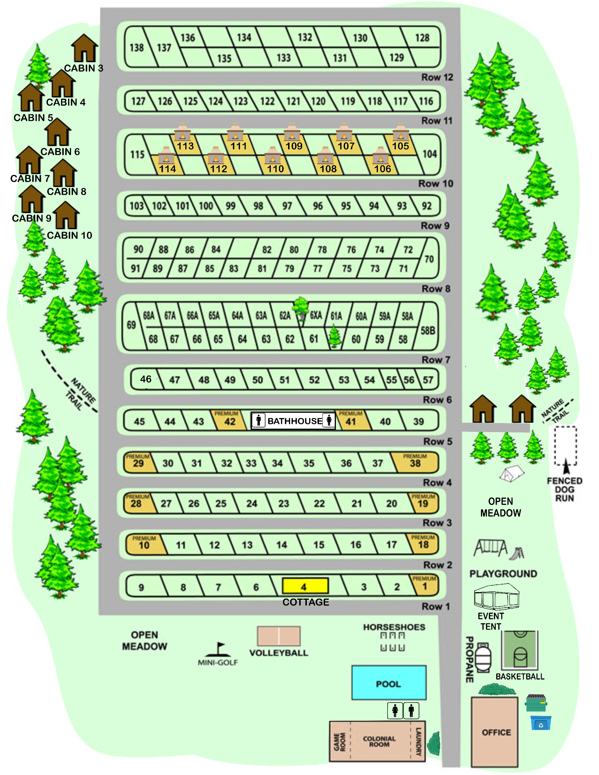 Campsite Map American Heritage Rv Park Campground - Us-camping-map